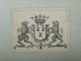 Ex-libris Héraldique Illustré XIXème - BELGIQUE - VAN ZUYLEN DE NYEVELT - Ex Libris
