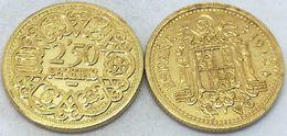 RÉPLICA Moneda 2,50 Pesetas. 1944. MUY RARA. General Franco. Madrid, España - [ 4] 1939-1947 : Gobierno Nacionalista