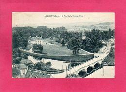 27 Eure, ACQUIGNY, Le Pont De La Rivière D'Eure, Animée, 1931, (Desaix) - Acquigny