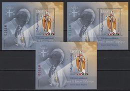 Hungary (2020) - 3 Blocks - /  Pope - Papa - John Paul II - Juan Pablo - Papes