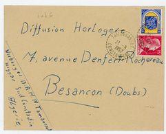 ALGERIE ENV 1957 TAMANRASSET CONSTANTINE RECETTE DISTRIBUTION INDICE 6 COTE 30 EUROS - Algérie (1962-...)