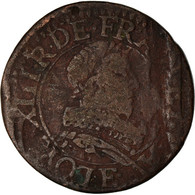 Monnaie, France, Louis XIII, Double Tournois, Buste Juvénile Au Col Fraisé - 987-1789 Royal