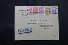 TUNISIE - Enveloppe De Tunis Pour La France En 1935 , Affranchissement  Plaisant -  L 63681 - Covers & Documents