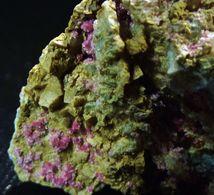 Erythrite With Siderite (  5 X 3 X 3 Cm.) - Sophia Mine, Wittichen, Schenkenzell, Baden-Wurttemberg, Germany. - Minéraux