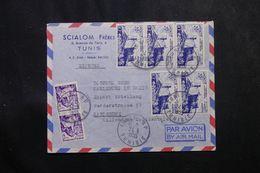TUNISIE - Enveloppe Commerciale De Tunis Pour L 'Allemagne En 1955 , Affranchissement  Plaisant -  L 63683 - Covers & Documents