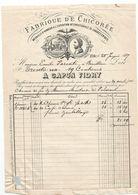 Facture De Janvier  1887 De Fabrique De Chicorée A. Capon-Fidry . à ETHE - Virton - Levensmiddelen