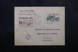 TUNISIE - Enveloppe D'un Avoué De Tunis En Recommandé AR Pour La France En 1947, Affranchissement Plaisant -  L 63686 - Covers & Documents