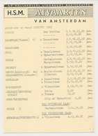 Meter Card Netherlands 1964 HSM - Dutch Steamship Company - Sailing List Amsterdam - GB / UK - Ships