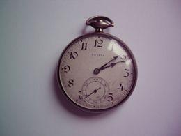 ZENITH-MONTRE-A-GOUSSET-ARGENT-POINCON-CRABE-MANQUE-REMONTOIR - Relojes De Bolsillo