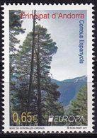 Spanish Andorra 2011 Europa Forests 1v MNH - 2011