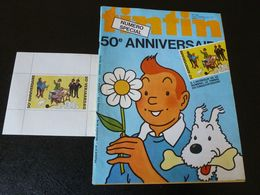 JOURNAL TINTIN N°2BIS 1978 50eme Anniversaire + Timbre - Tintin
