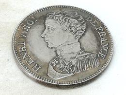 RÉPLICA Moneda 5 Francos. 1831. Rey Enrique V. Francia - France