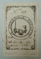 Ex-libris Héraldique Illustré XVIIIème - BELGIQUE - VAN LATHEM - Ex Libris