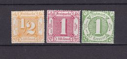 Thurn Und Taxis - 1909 - Michel Nr. 37/38 ND + 41 ND - Ungebr. O. Gummi - 21 Euro - Tour Et Taxis