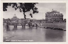 Italie : ROMA - ROME : Cupola S. Pietro E Castel S. Angelo ( C.p.s.m. - Photo. Véritable ) - Other Monuments & Buildings