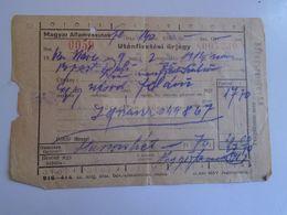 ZA282.7 Railway Ticket MÁV Hungary -1958  Budapest Déli  Székesfehérvár Utánfizetési űrjegy  1963  Train - Chemins De Fer