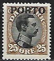 DANEMARK    -   Taxe  /  Porto     -   1921 .   Y&T N° 6 * - Port Dû (Taxe)