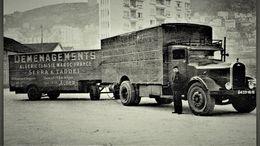 Camion Delahaye Et Remorque   -  Serra & Taddei -  Demenagements Algerie-Tunisie-Maroc-France    -  15x10cm  PHOTO - Camions & Poids Lourds