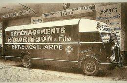 Camion Delahaye   -  P.Taurisson Et Fils, Brivé La Gaillarde  -  Demenagements    -  15x10cm  PHOTO - Camions & Poids Lourds