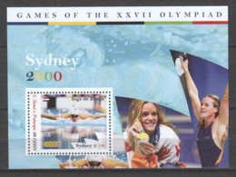 Sao Tome E Principe - MNH Sheet 3 SUMMER OLYMPICS SYDNEY 2000 - SWIMMING - INGE DE BRUIJN - Ete 2000: Sydney