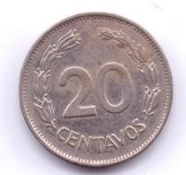 ECUADOR 1992: 20 Centavos, KM 77.1 - Ecuador
