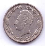 ECUADOR 1980: 1 Sucre, KM 78b - Ecuador