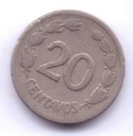 ECUADOR 1946: 20 Centavos, KM 77.1 - Ecuador