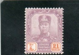 JOHORE 1918 * - Johore