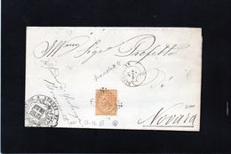 CG43 - Piego Da Biandrate Per Novara 21/12/1868 ?? - Annullo S Sbarre N. 441 - Marcophilia
