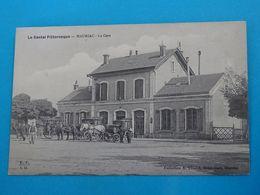 "15 ) Mauriac - La Gare  "" Attelage "" -  Année  - EDIT - Chastel - Mauriac"