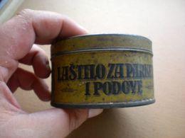 Old Tin Box Lastilo Za Parkete I Podove Kraljevina SHS Kr Dvorski Dobavljac Litografija Rozanovski I Drug Zagreb - Cajas/Cofres