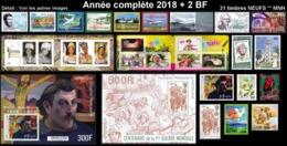 POLYNESIE Année Complète 2018 + BF (NEUF ** MNH) : Yv. 1139 à 1175 Dont 3 Carnets + BF 46 Et 47  (31 Tp)  ..Réf.POL25086 - Polynésie Française