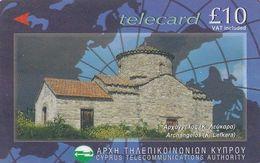 CYPRUS(GPT) - Archangelos Church(10 Pounds), CN : 25CYPJ/B, Tirage 20000, 04/97, Used - Cyprus