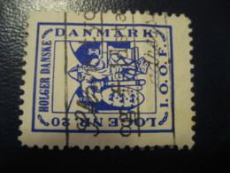 HOLGER Danske Loge Nr 20 Masonry Freemasonry Viking Vikings Poster Stamp Vignette DENMARK Label - Autres