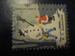 H.C. ANDERSEN Snemanden Tales Stories Legends Child Youth Literature Poster Stamp Vignette DENMARK Label - Fairy Tales, Popular Stories & Legends