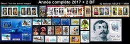 POLYNESIE Année Complète 2017 + BF (NEUF ** MNH) : Yv. 1139 à 1175 Dont 3 Carnets + BF 46 Et 47  (42 Tp)  ..Réf.POL25085 - Polynésie Française