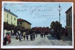 BRESCIA . VIALE A STAZIONE - VIAGGIATA 1904 - Brescia