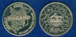 Medaille Winterspiele Nagon 1998 30mm - Pièces écrasées (Elongated Coins)