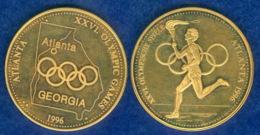 Medaille Olympische Spiele Atlanta 1996 30mm - Pièces écrasées (Elongated Coins)