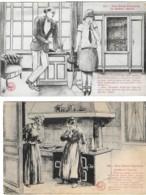 Nos Bons Paysans (accident De Ramonage, Au Théâtre: Débuts) (2 Cartes) - Other