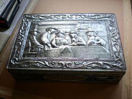 Old Tin Box Big Box Joseph Wolf Gebach Waffelen Schokolade Darmstadt Eberstadt - Cajas/Cofres