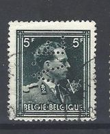 Nr 696 Gestempeld Perfin V.F - Perfins