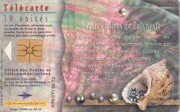 FRENCH POLYNESIA - Perles Noires, Tirage 50000, 10/98, Used - Polynésie Française