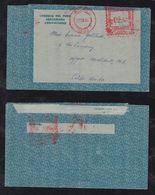 Peru 1966 Meter Aerogramme To USA Text Inside - Peru