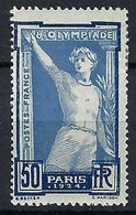 FRANCE 1924: Le Y&T 186  Neuf*,  B à TB - France