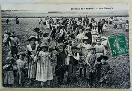 76 Environs De Fauville Les Glaneurs Tres Animée Rare - Andere Gemeenten