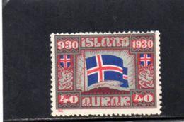 ISLANDE 1930 * - Neufs