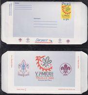 Peru 2000 Aerogramme Stationery Scouts ** MNH - Perù