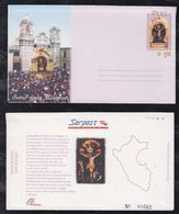 Peru 2001 Aerogramme Stationery MILAGROS Church Cristo ** MNH - Perù