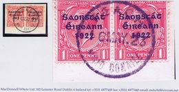 Ireland Galway Roscommon 1923 Rubber Climax Dater Of Taughmaconnell TIGH MAC CONAILL 16 MAY.23 On Piece - Irlande